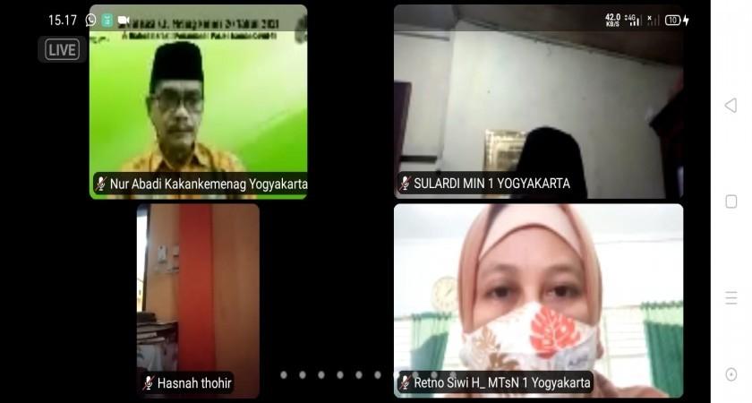 MTsN 1 Yogyakarta Ikuti Dialog Interaktif Bertema Penanganan Pasien Isolasi Mandiri