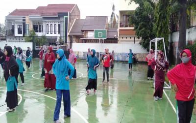 MTs Negeri 1 Yogyakarta Adakan Senam Sabtu Ceria