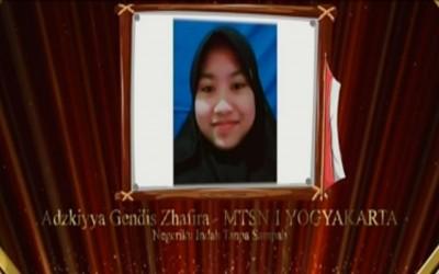 Adzkiyya Gendhis Zhafira, Siswa MTs Negeri 1 Yogyakarta  Lolos 10 Besar Kompetisi Euphoria 2021