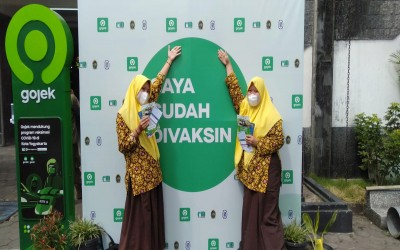 Ratusan Siswa MTsN 1 Yogyakarta Ikuti Vaksinasi Covid-19 Dosis Pertama