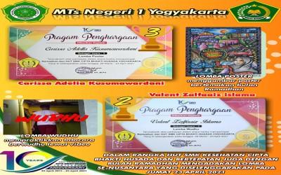 Siswa MTsN 1 Yogyakarta Berprestasi di Bulan Suci